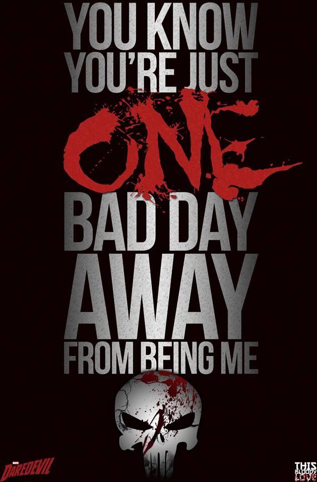 Daredevil (Season 2) #Punisher. Except Joker says that in The Killing Joke........