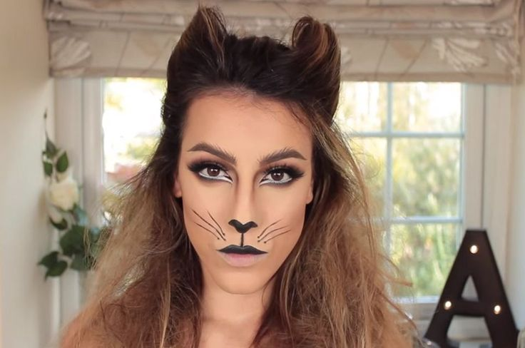 Cat Halloween makeup | 5 Easy Cat Makeup Ideas For Halloween Lazy Girls Can Get Excited About