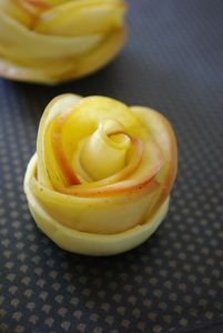 fleur de pomme tarte aux pommes dessert simple facile_1