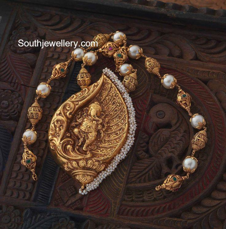 Gold Balls Chain with Ganesh Pendant photo