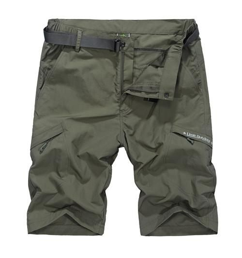 Brand Clothing Military Cargo Cotton Summer Men's Casual Shorts With Belt  Pocket Short Pantalones Cortos Quick