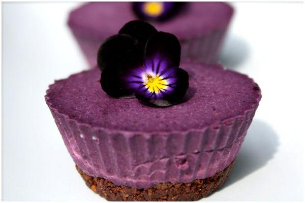 Raw Blueberry Cardamom Cheesecake