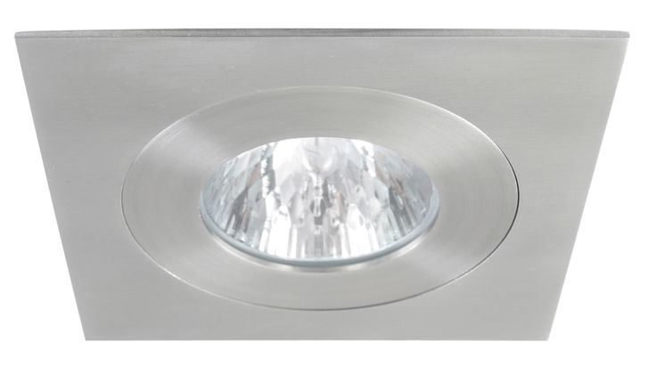 Luxe Square Fixed 50w Downlight in Stainless Steel