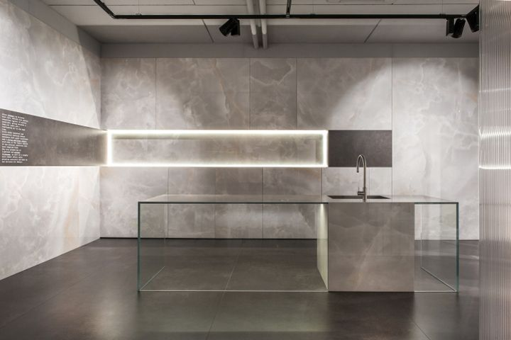 Greenroom showroom for Ariostea by Marco Porpora, Castellarano   Italy vm showroom store design