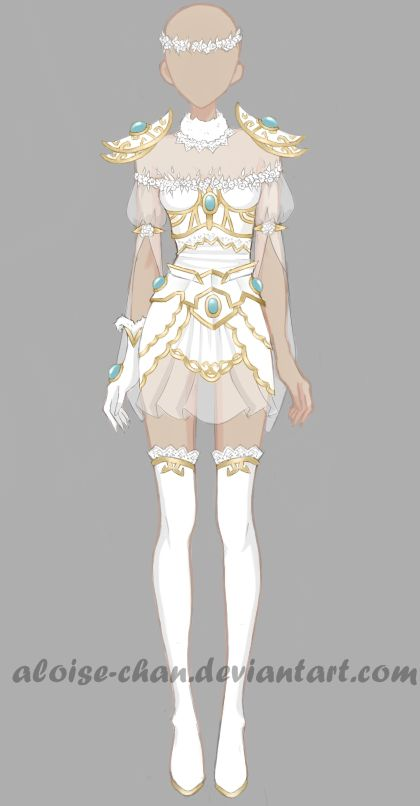 [OPEN] Fairy Armour Adoptable by Aloise-chan.deviantart.com on @DeviantArt