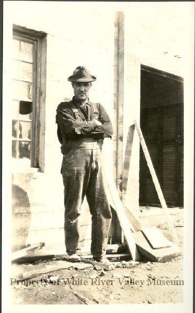 "Edward Bobeau, mortician, ""C.E.Bobeau and Sons"" circa 1924."