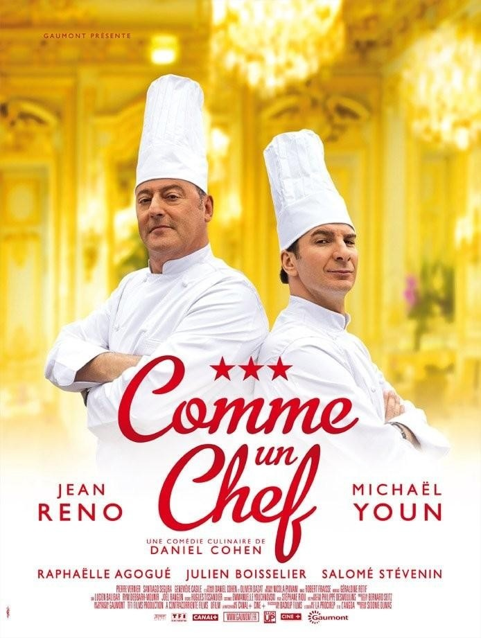 COMME UN CHEF aka THE CHEF (2012) - French: A veteran chef faces off against his restaurant group's new CEO, who wants the establishment to lose a star from its rating in order to bring in a younger chef who specializes in molecular gastronomy. Not a cinematic masterpiece, but a definate feelgood.