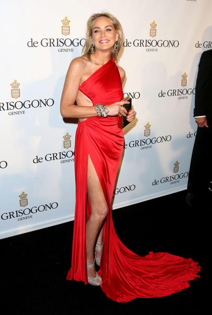 Sharon Stone in Roberto Kavalli