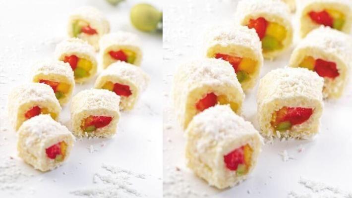 Диетические десерты из творога: роллы с фруктами
