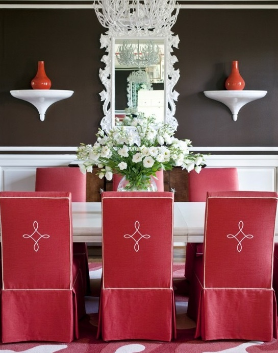 Beautiful Chair Covers Eclectic Dining RoomsTraditional