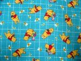 SheetWorld Fitted Cradle Sheet - Pooh Blue Grid - Made In USA