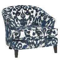 Mid-Century Modern Cobalt Blue Accent Chair - Kelsey