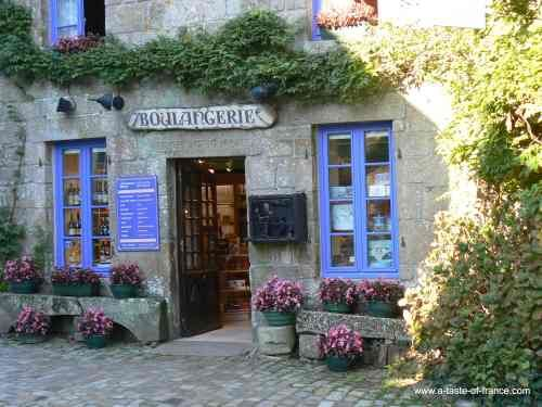 A local bakery in the village of Locronan in Brittany