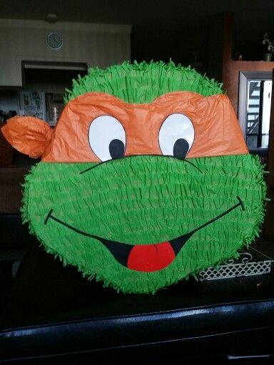 DIY Ninja turtle pinata made by me!