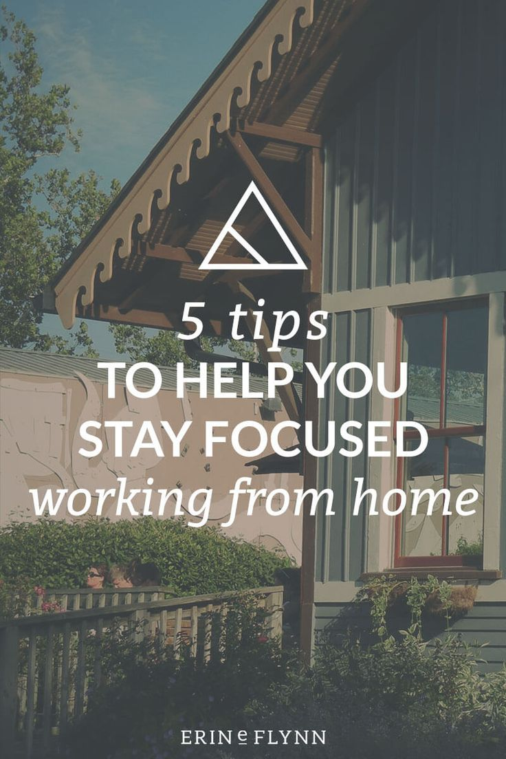 It can be hard to stay focused when you're working from home. Here are five tips  to help you stay focused when working from home, written just for freelancers, small business owners, and entrepreneurs. Click through!
