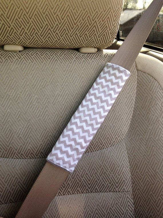 Reversible Grey Chevron And Minky Seat Belt Cover Or Custom Colors On Etsy 345