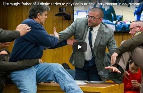 In a Michigan courtroom on Friday, after self-proclaimed distraught dad Randall Margraves was denied by the presiding judge in the case against USA Gymnastics doctor Larry Nassar to have five minut…