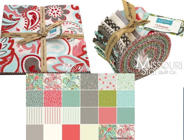 Beautiful fabric! Verona by Emily Taylor Design for Riley Blake Fabrics.