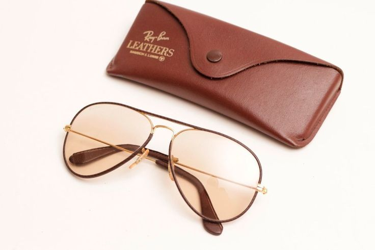 Unused Rayban Aviator Leathers Brown/Black Stripes,with Case,L,Light Brown Lense #RayBan #Aviator
