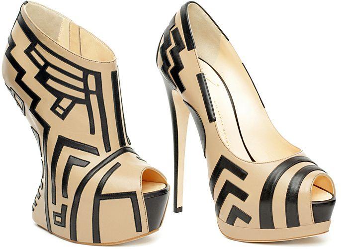 Zanotti: Giuseppezanotti, Zanotti 8217 Spring, Giuseppe Zanotti Spring 2012, 2012 Collection, Giuseppe Zanotti 8217, Woman Shoes, Black Shoes, Spring Collection, High Heels
