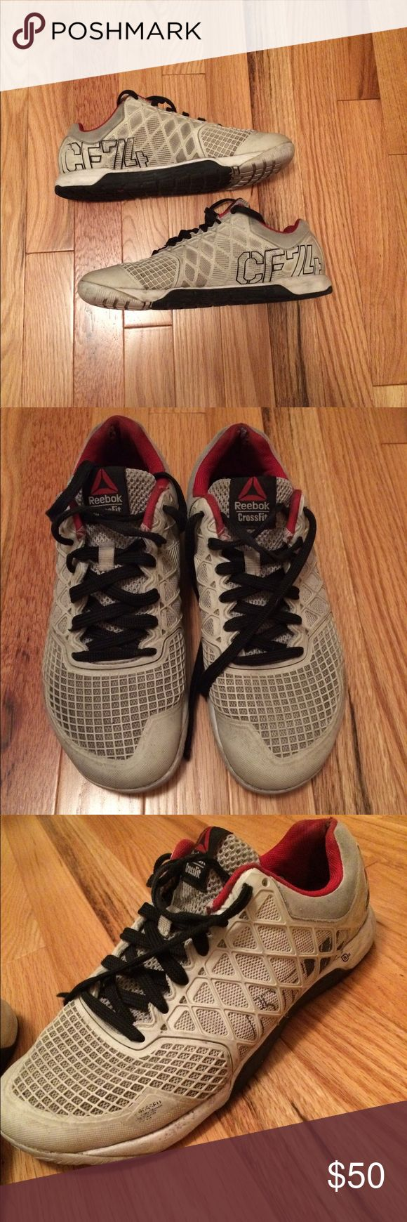 Reebok men's size 7.5 crossfit shoes Reebok crossfit men's shoes. Size 7.5. Gray red and black in color. Soles and insoles are in good condition. No stains or imperfections. Smoke free home. Will not come with box. Offers and trades are welcome. Listed on Ⓜ️ Reebok Shoes