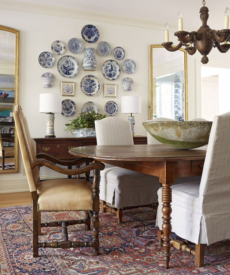 Blue Dining Room Decoration: Janie Molster Designs