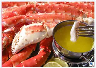 My Green Mile food.. Alaskan {Red} King Crab.. 1 of the 3 reasons I'd hit Alaska.. [[3 lbs for me alone please.. w/a side of lemon/garlic/butter/old bay sauce & a pineapple smirnoff ice]] L0L .. HEAVEN.