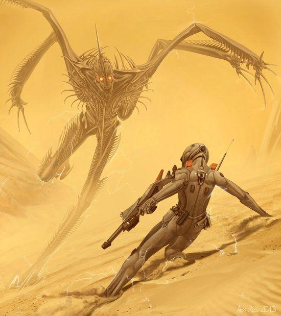 As ilustrações de ficção científica com um toque surreal de Alex Ries
