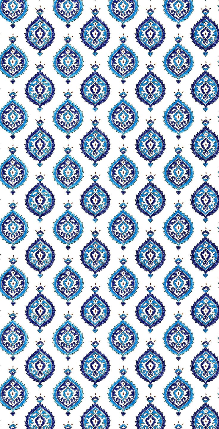 Blue Intricate Art Drops Pattern