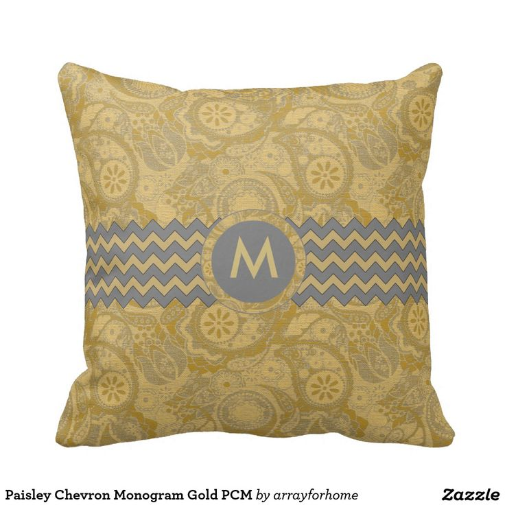 Paisley Chevron Monogram Gold PCMX Throw Pillow Other, Gifts and The o jays