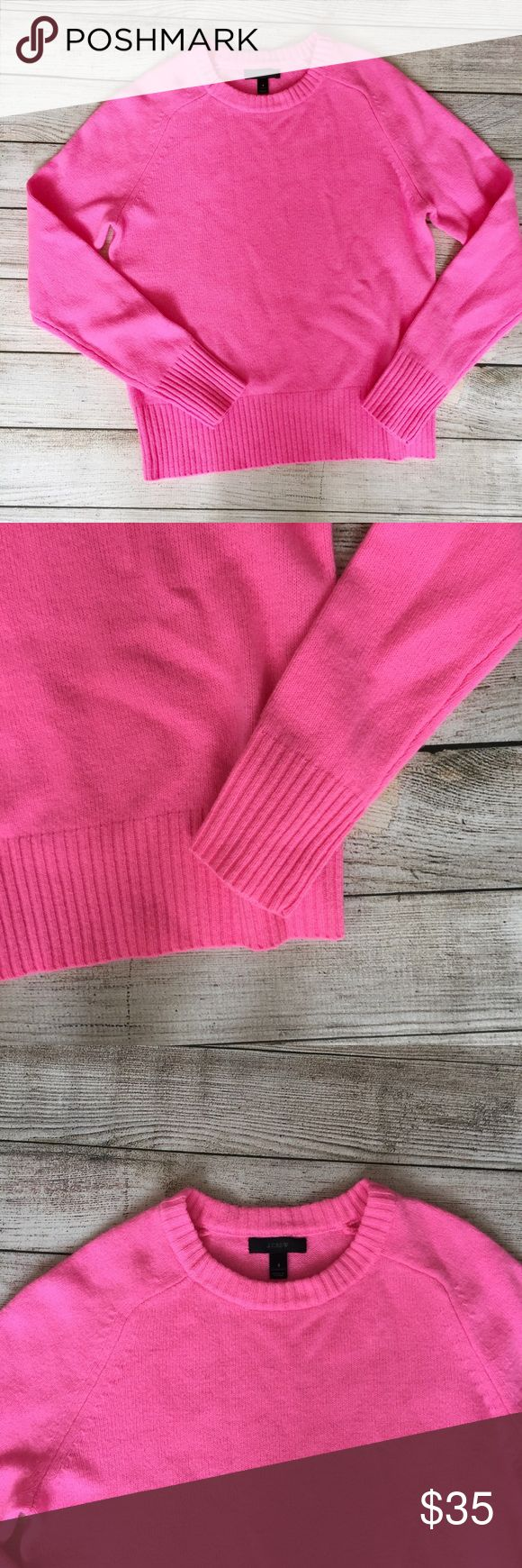 """J. Crew Pink Wool Holly Sweater 100% full. Semi fitted. Hits at hip. Length 22.5"""" shoulder to hem. Excellent condition. 🚫NO TRADES/NO MODELING🚫✅BUNDLE TO SAVE ✅ J. Crew Sweaters Crew & Scoop Necks"""