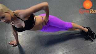 """gymra: """" The Get Hard As Rock Workout Complete 15-25 reps on each side of all exercises above to tone your core and abs. Repeat the entire series to take it to the next level. 1. Cross Crunch Lie on..."""