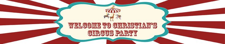 Circus Party Personalised Banners - We Print Your Text