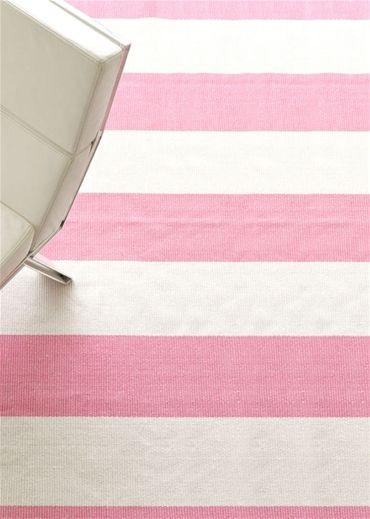 Pink U0026 White Cabana Stripe Rug!