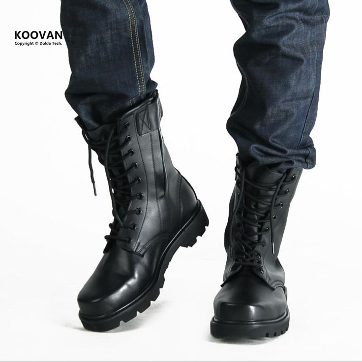 Koovan Men Shoes New 2017 Cool High Real Leather Cashmere  Men Martin Boots Military Warm Winter Shoes For Man