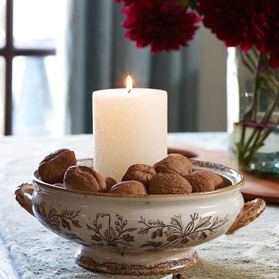 Chestnuts Roasting - Fall decorating ideas