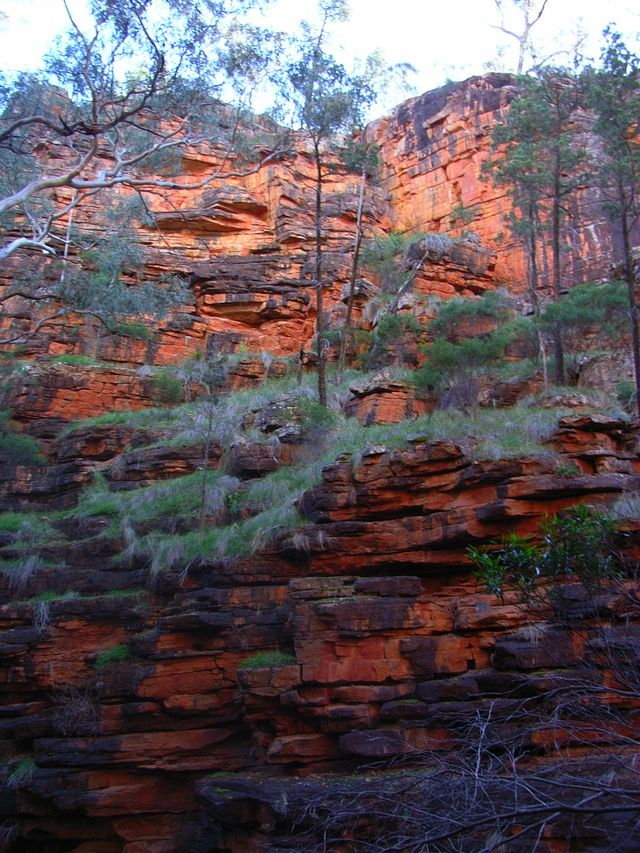 Sourcing in Archaeology: Iron Oxide Outcrop, Alligator Gorge, Flinders Range, South Australia