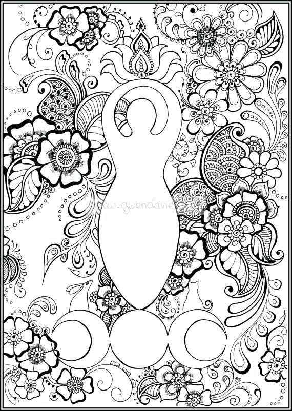 Wiccan Coloring Pages Pagan Mandala Coloring Pages New Mandala