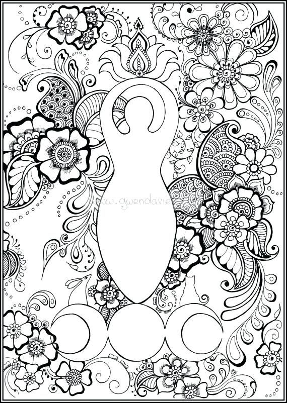 Wiccan Coloring Pages Pagan Mandala Coloring Pages New Mandala
