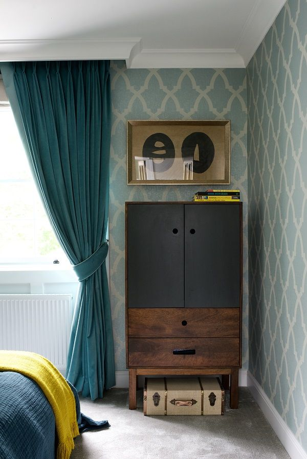 The guest bedroom in a Regency House conversion