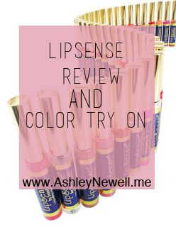 AshleyNewell.me: Lipsense Review (Color, Gloss, and Balm)