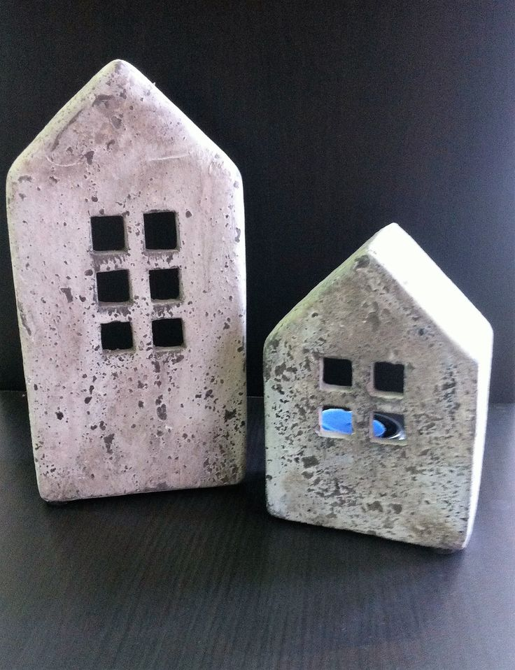 ceramic candle houses