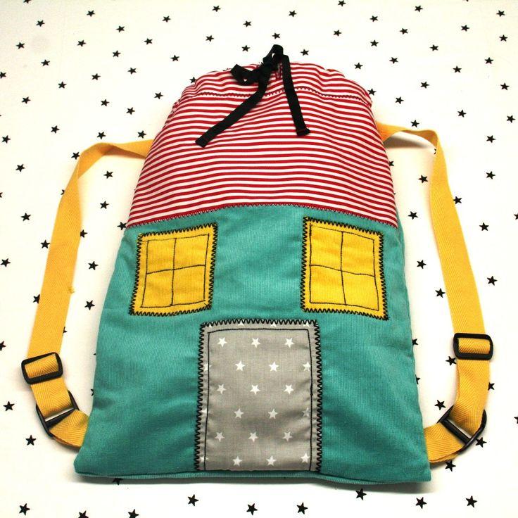 Backpacks for kids handmade Χειροποίητο νηπιακό παιδικό σακίδιο πλάτης : Sweet home