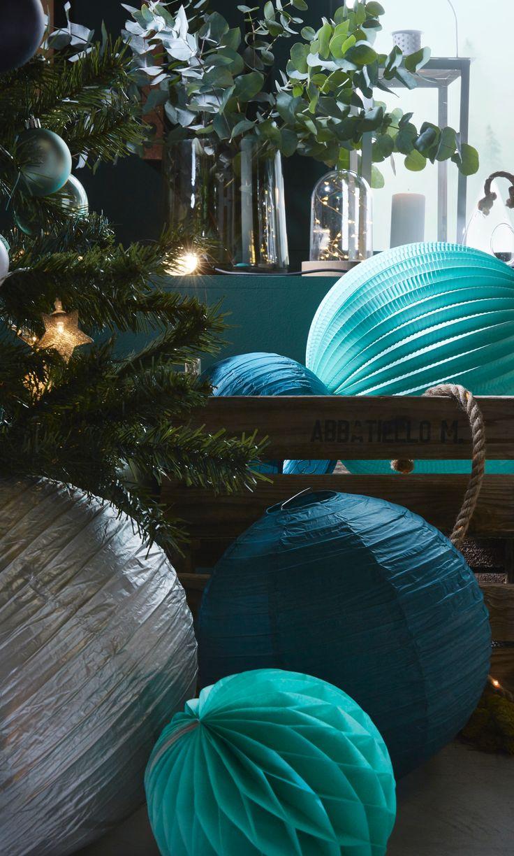 decoration de noel bleu canard. Black Bedroom Furniture Sets. Home Design Ideas