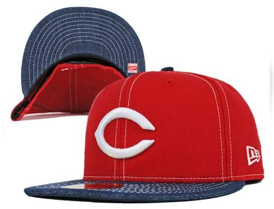 Hiroshima Toyo Carp Red/Indigo Denim 59Fifty Fitted Cap by NEW ERA x NPB