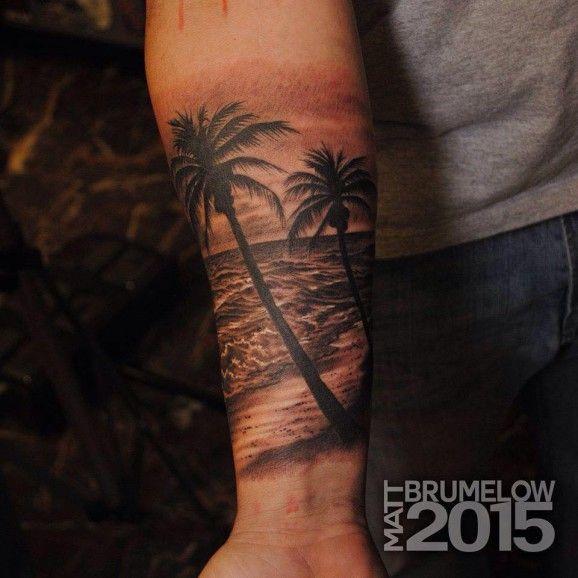 Gorgeous black and grey tattoo by Matt Brumelow!