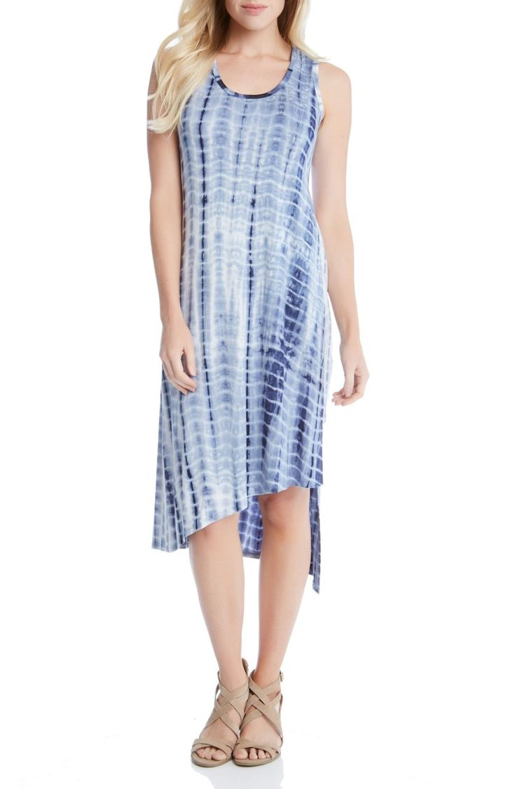 Main Image - Karen Kane Stevie Print Jersey Asymmetrical Tank Dress
