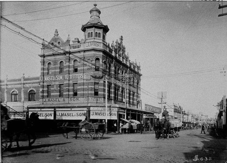J Masel & Son, Cnr Murray and William Streets, Perth, March 1911 - Now 140 William Street, but formerly Bairds and Myer