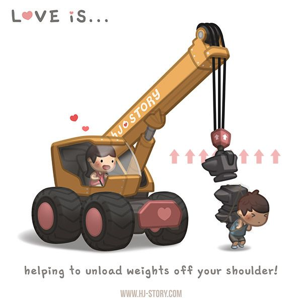Love is...unloading weight
