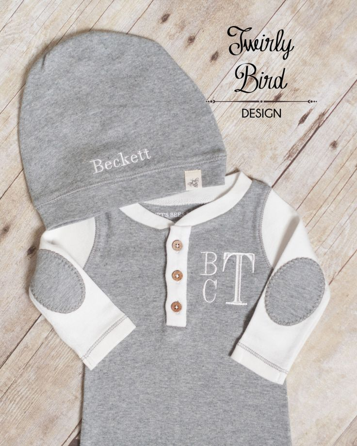 A personal favorite from my Etsy shop https://www.etsy.com/listing/477503456/going-home-outfit-boy-baby-shower-gift
